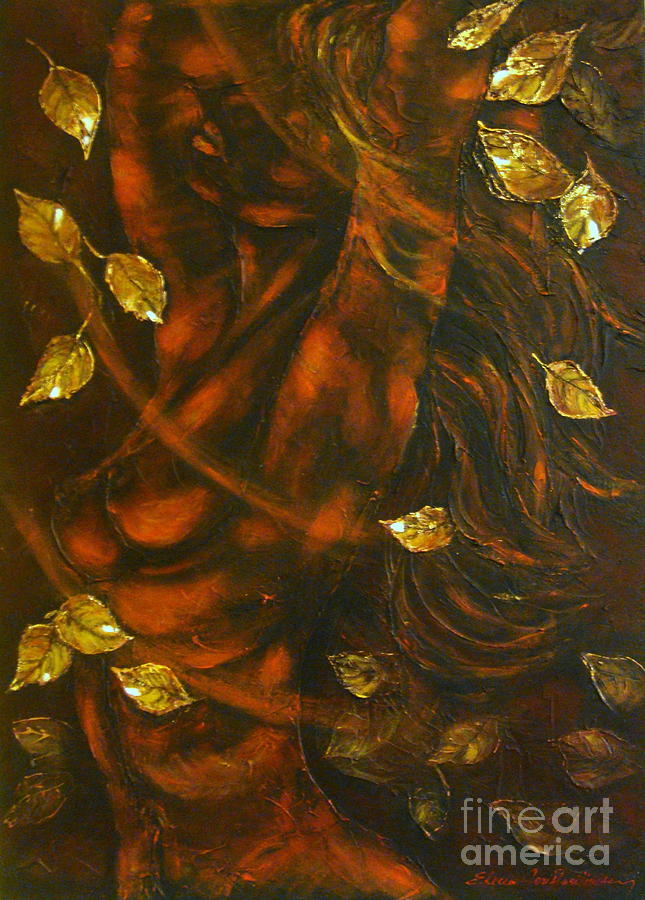 Nude Painting - She...autumn by Elena  Constantinescu