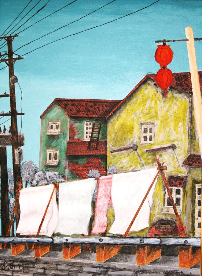 China Painting - Sheets by Irving Starr