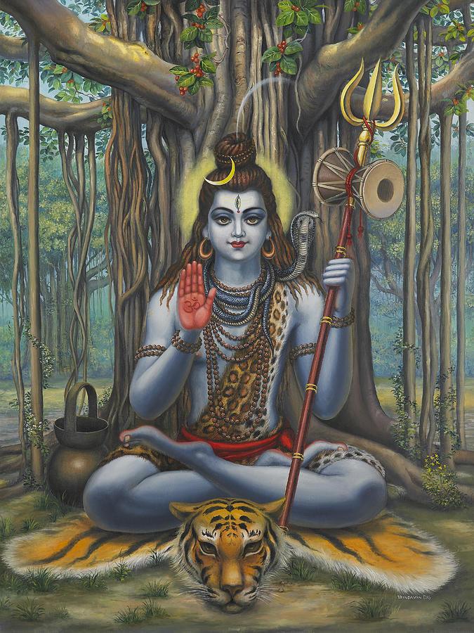 Shiva Painting - Shiva by Vrindavan Das