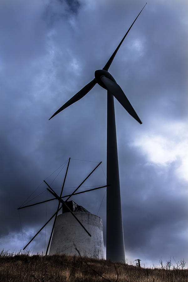 Windmill Photograph - Side By Side by Edgar Laureano