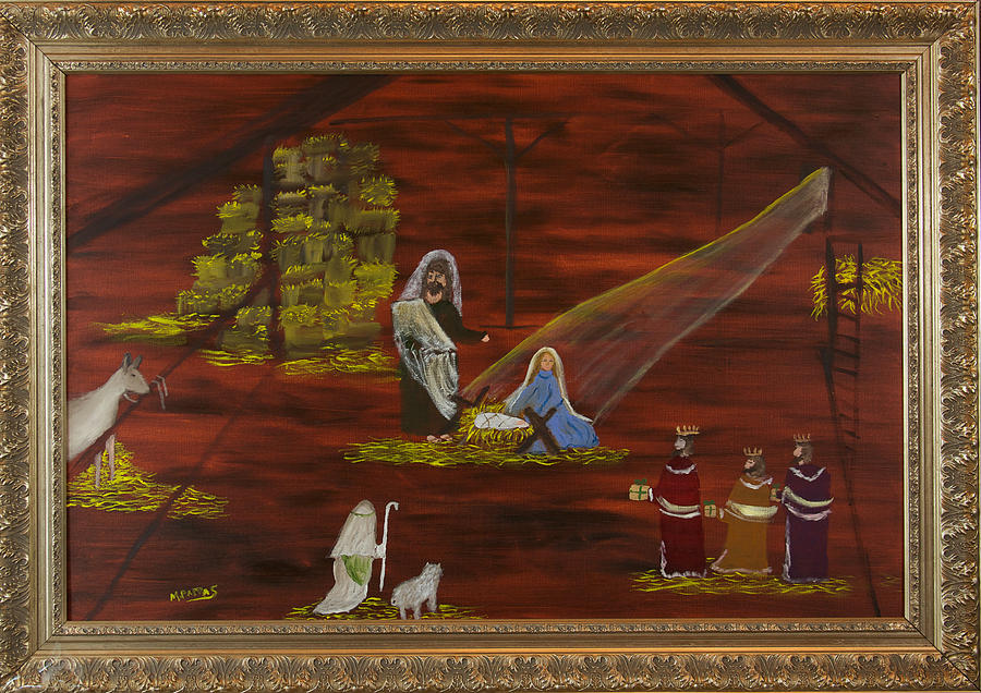 Nativity Painting - Silent Night by Margaret Pappas