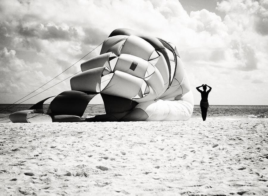 Beach Photograph - Silhouette by Richie Stewart