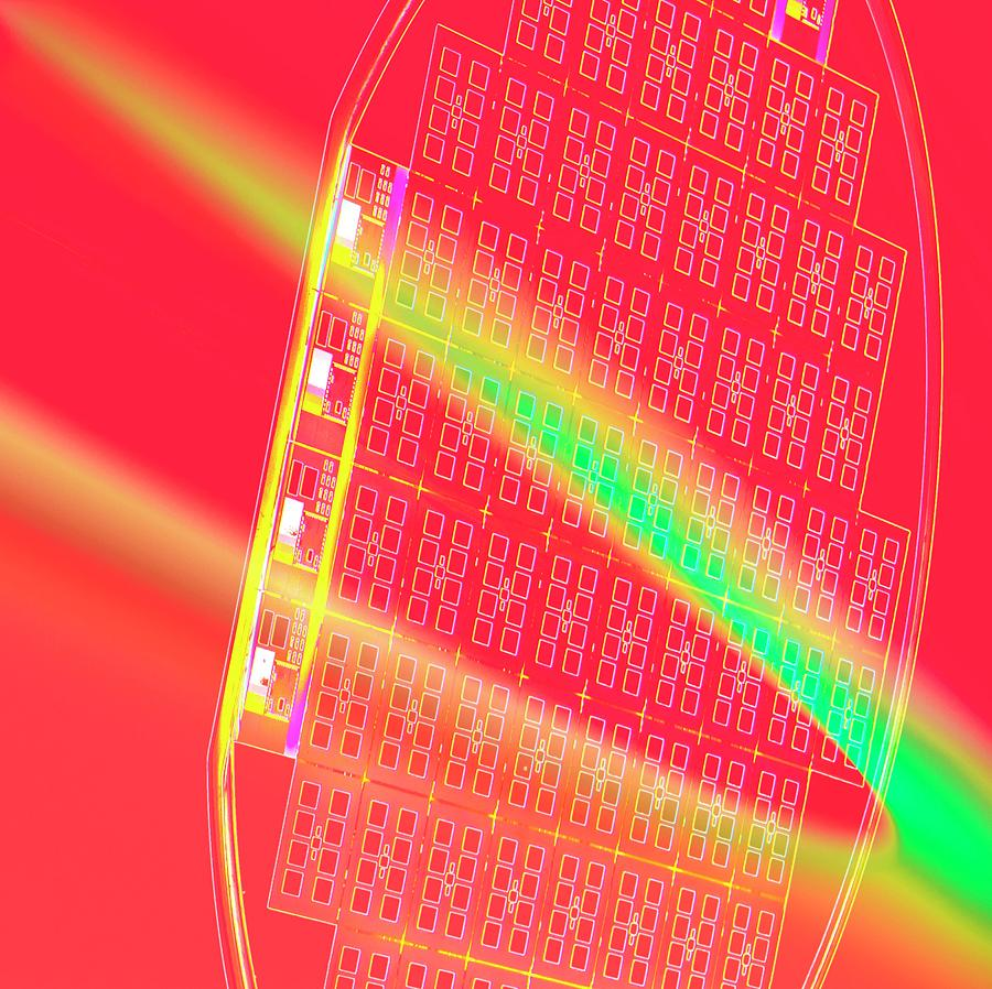 Equipment Photograph - Silicon Wafer by Chris Knapton