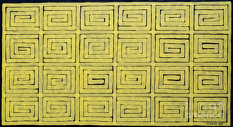 Yellow Painting - Simple Mazes No.1 by Trevor Todd