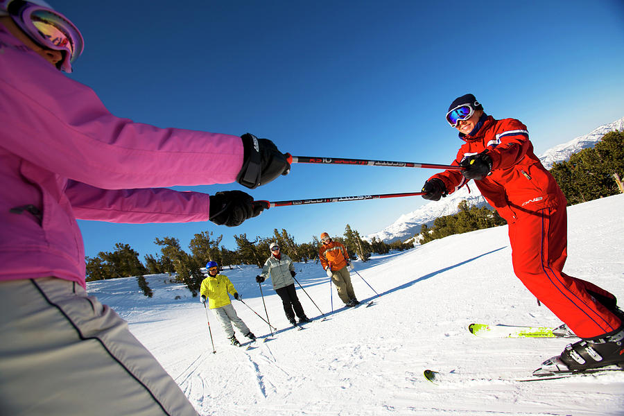 Ski Instruction In Lake Tahoe Photograph By Corey Rich