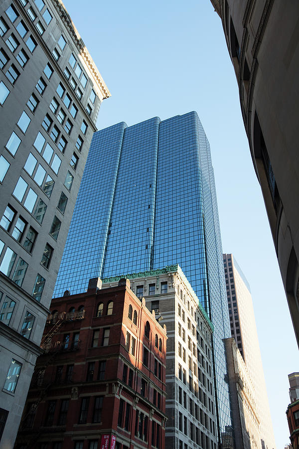 Vertical Photograph - Skyscrapers In A City, Boston by Panoramic Images