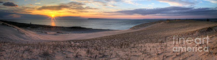 Sleeping Photograph - Sleeping Bear Dunes Sunset Panorama by Twenty Two North Photography
