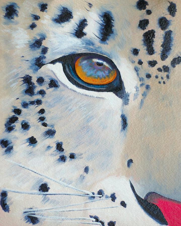 Snow Leopard Painting - Snow Leopard Eye by John  Sweeney
