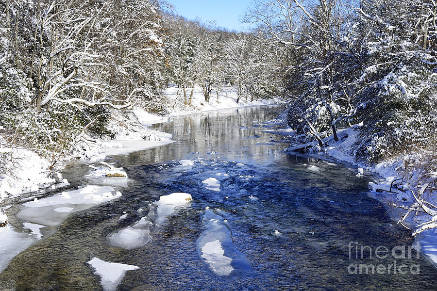 Cold Photograph - Snow On Gauley River by Thomas R Fletcher
