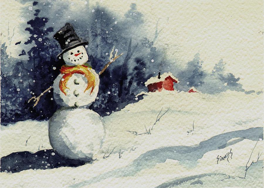 Snowman Painting - Snowman by Sam Sidders