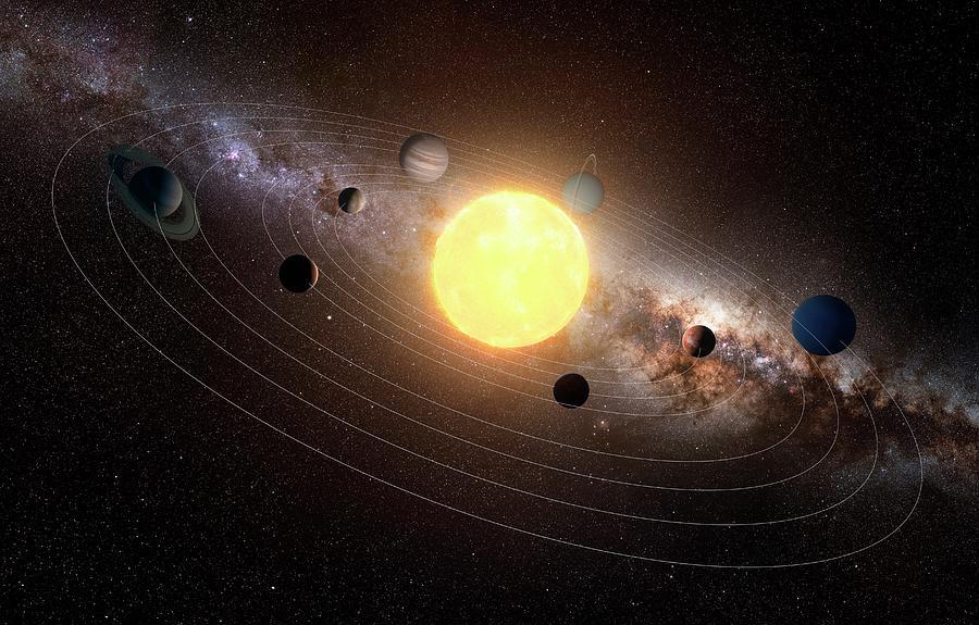 Solar System, Artwork 2 Digital Art by Sciepro