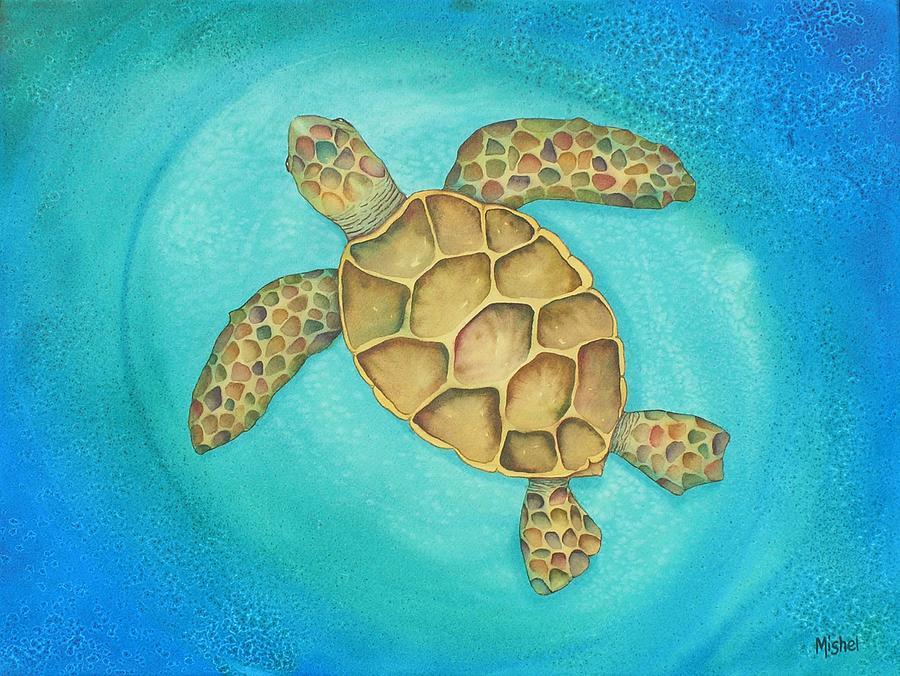 Nature Painting - Solo Swimmer by Mishel Vanderten