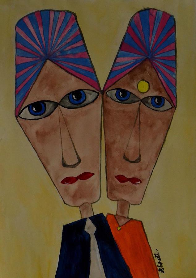 Couple Mixed Media - Soulmates by Shruti Prasad