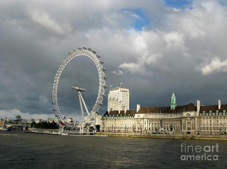London Photograph - South Bank Illumined by Ann Horn