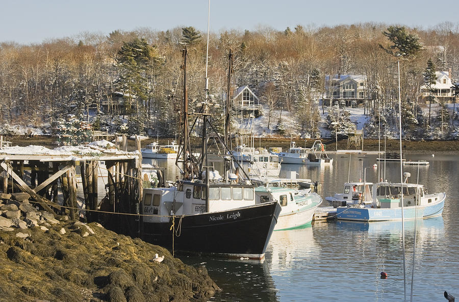 Maine Photograph - South Bristol And Fishing Boats On The Coast Of Maine by Keith Webber Jr