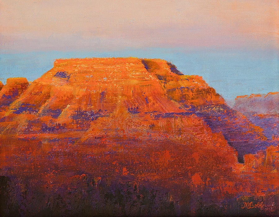Grand Canyon Painting - South Rim Sunset by Margaret Bobb