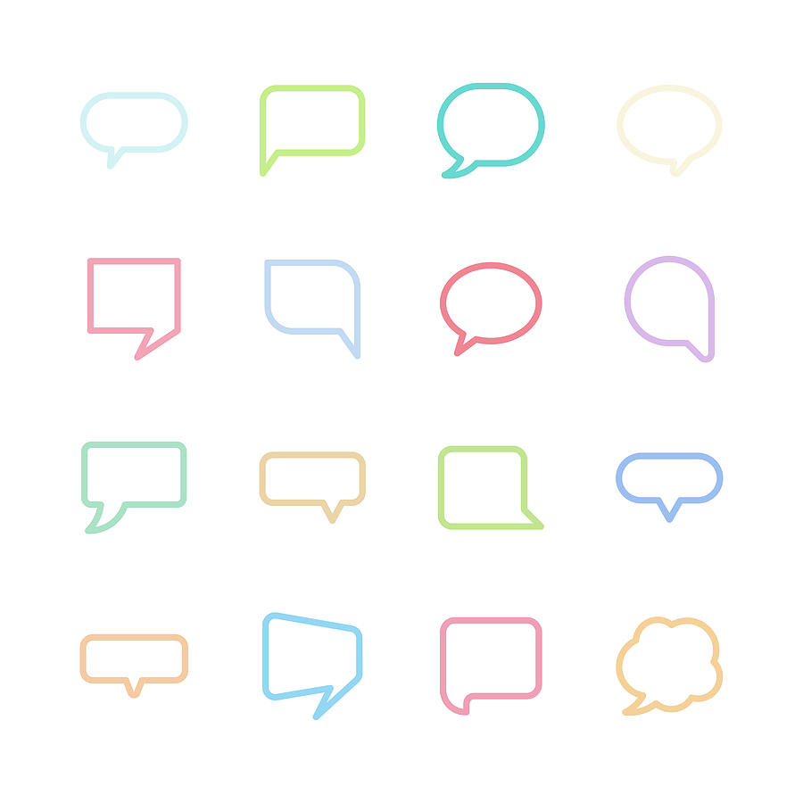Speech bubble icons Drawing by Fairywong