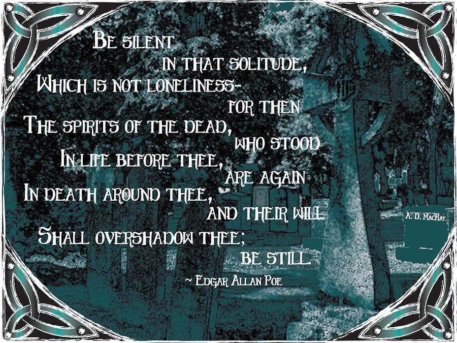 Cemetery Digital Art - Spirits of the Dead by Celtic Artist Angela Dawn MacKay