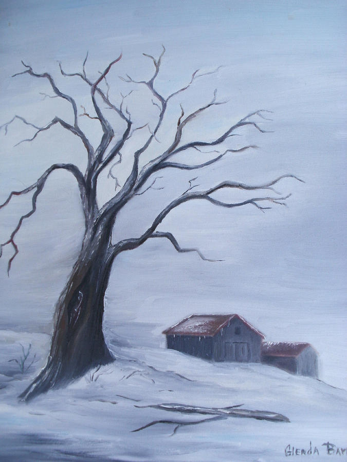 Original Painting - Standing Alone by Glenda Barrett