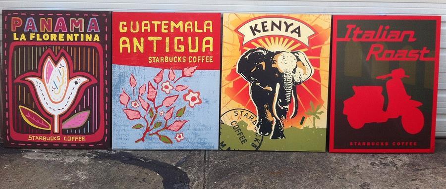 Panama Mixed Media - Starbucks Print Art by Martina Spisakova