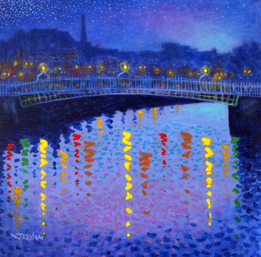 Dublin Painting - Starry Night In Dublin by John  Nolan