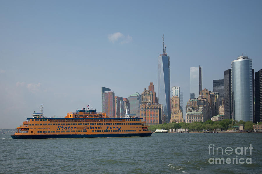 Boats Digital Art - Staten Island Ferry by Carol Ailles