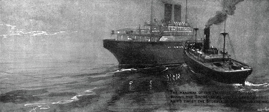 1914 Drawing - Steamship Accident, 1914 by Granger