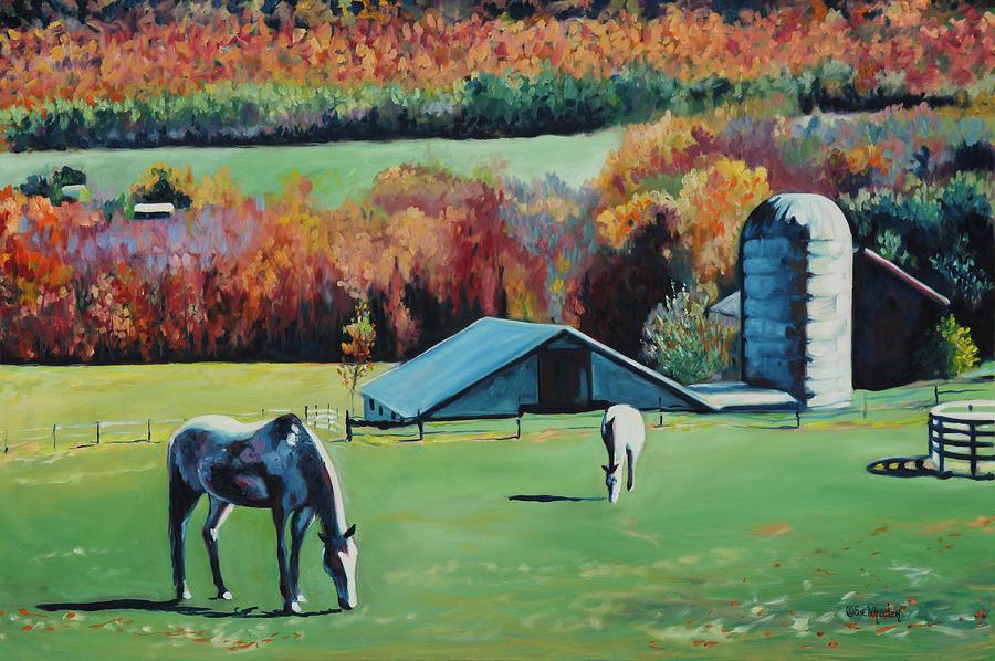 Stephentown Painting - Stephentown Farm by Eve  Wheeler