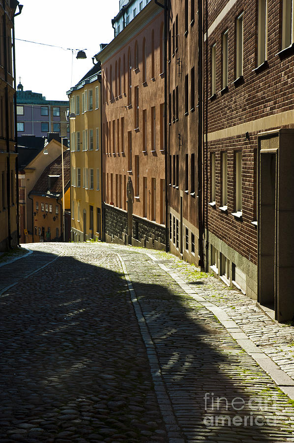 Cobblestone Photograph - Stockholm Sweden by Micah May