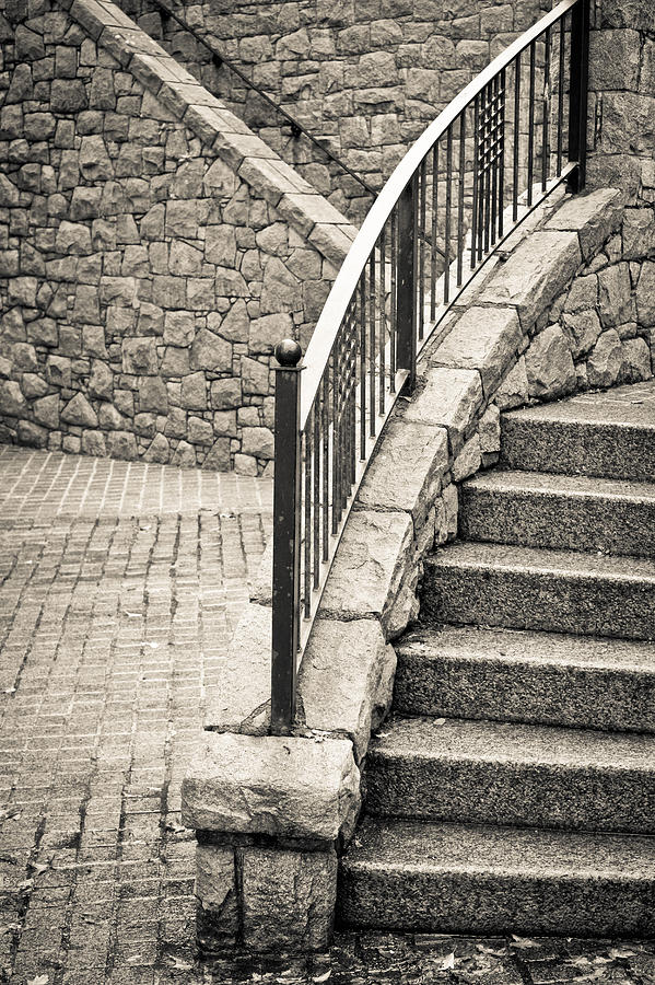 Architecture Photograph - Stone Steps by Tom Gowanlock