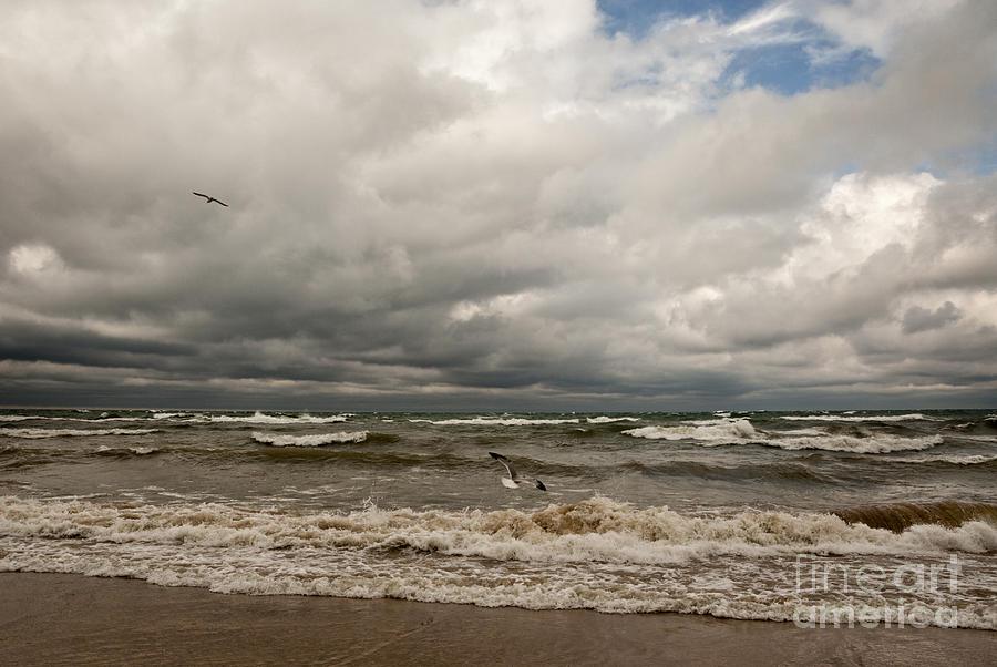 Stormy Lake Michigan Photograph