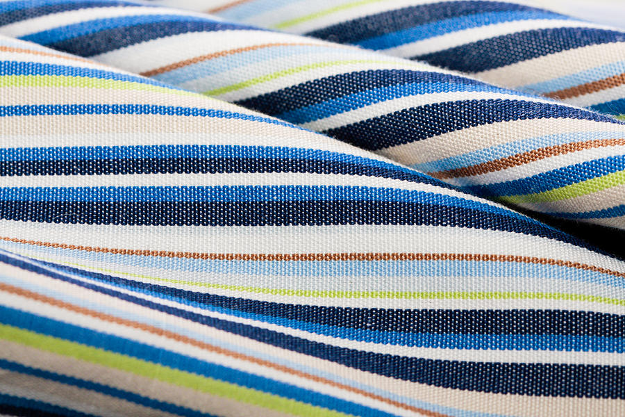 Abstract Photograph - Striped Material by Tom Gowanlock