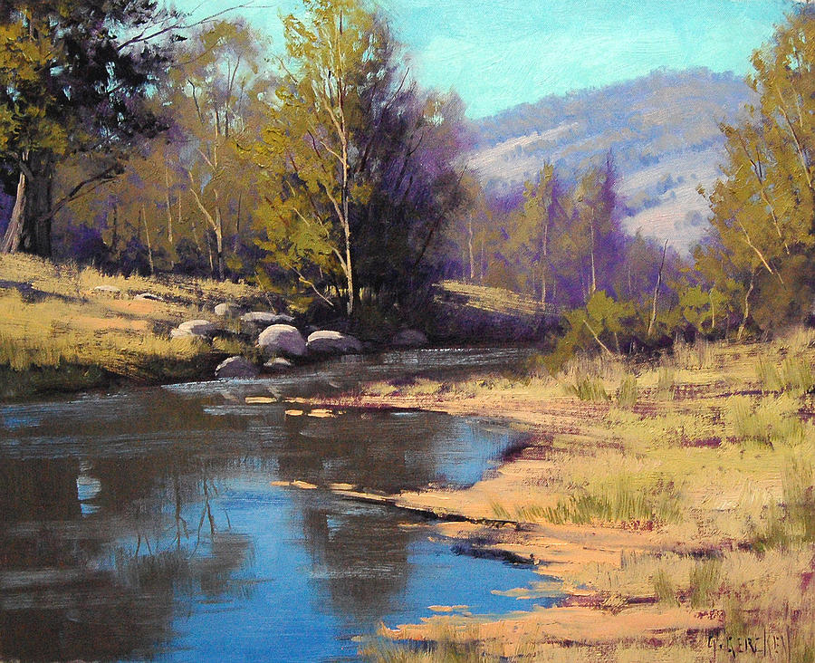 River Painting - Summer River by Graham Gercken