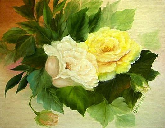 Yellow Rose Painting - Sunny Side Up by Francine Henderson