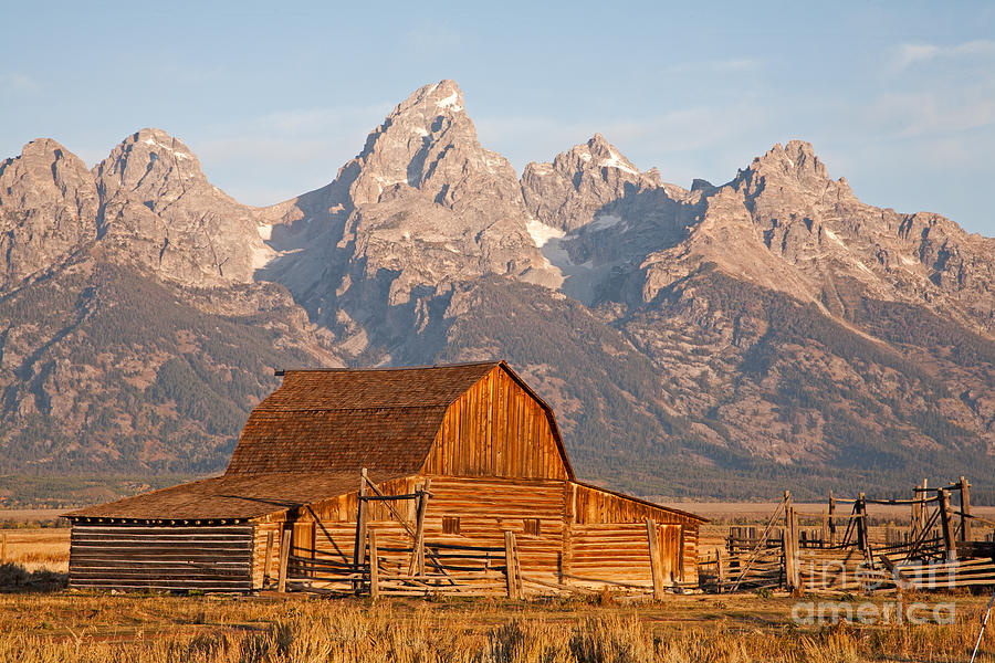 Grand Teton Np Photograph - Sunrise at Moulton Barn Grand Teton National Park by Fred Stearns