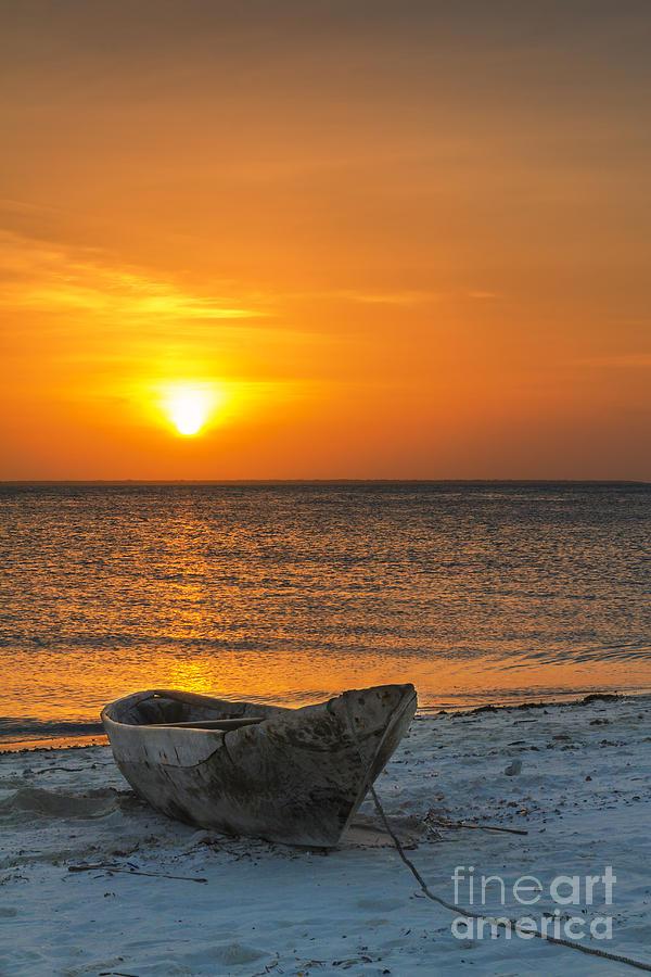 Africa Photograph - Sunset In Zanzibar - Kendwa Beach by Pier Giorgio Mariani