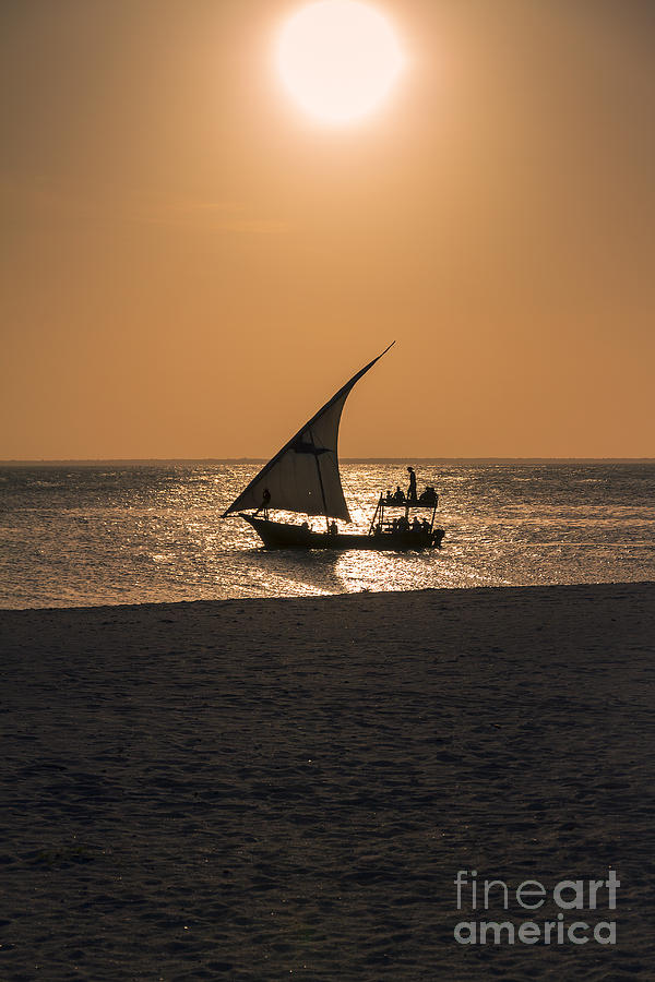 Africa Photograph - Sunset In Zanzibar by Pier Giorgio Mariani