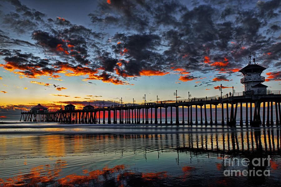 Beach Photograph - Sunset by Peter Dang