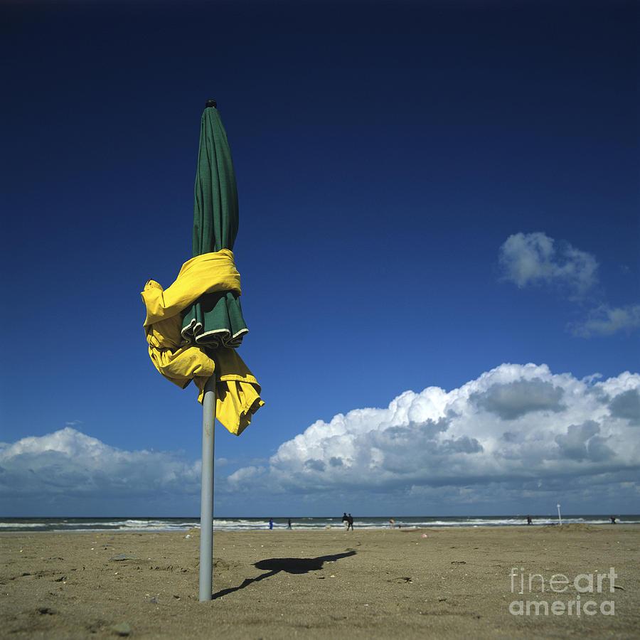 Sunshades On The Beach. Deauville. Normandy. France. Europe Photograph by Bernard Jaubert