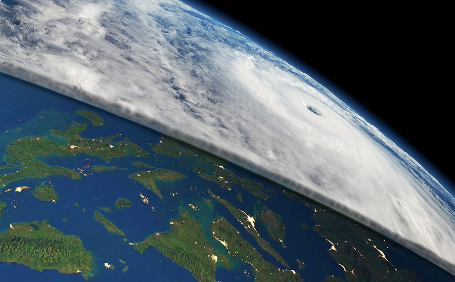 Super Typhoon Haiyan Photograph by Planetary Visions/nasa ...