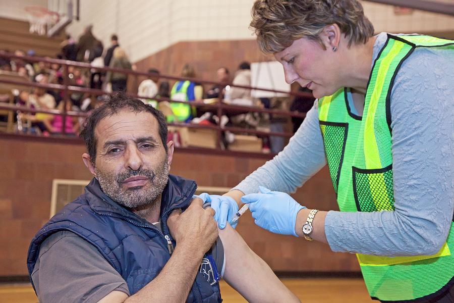 Human Photograph - Swine Flu (h1n1) Vaccination by Jim West