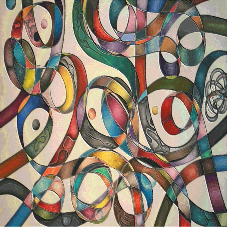 Abstract Pastel - #2 Tangled Series by George Curington