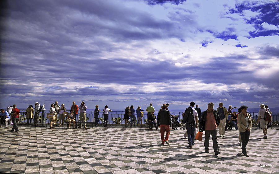 Taormina Tourists 7 by Madeline Ellis