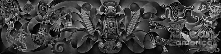 Tapestry of Gods Painting by Ricardo Chavez-Mendez