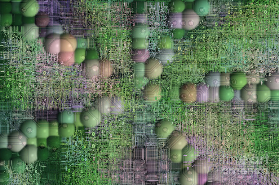 Printed Digital Art - Technology Abstract Background by Michal Boubin