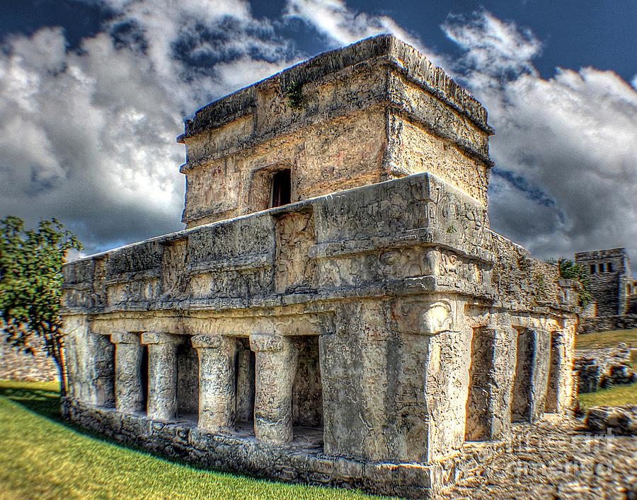 Temple Of The Frescos - Tulum Ruins Photograph - Temple Of The Frescos - Tulum by Ines Bolasini
