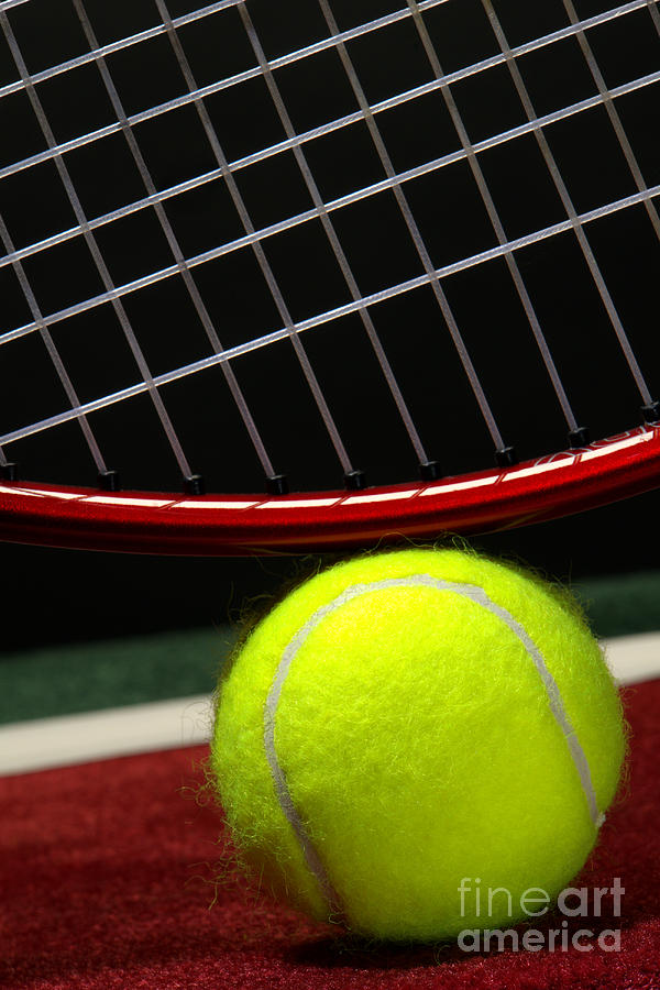 Tennis Photograph - Tennis Ball by Olivier Le Queinec