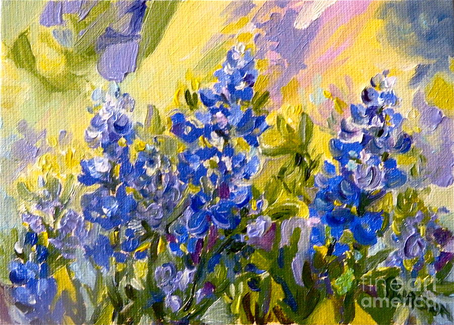 Bluebonnets Painting - Texas Our Texas by Patsy Walton