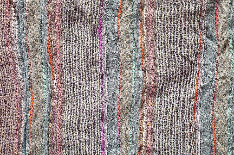 Alpaca Photograph - Textile Background by Tom Gowanlock