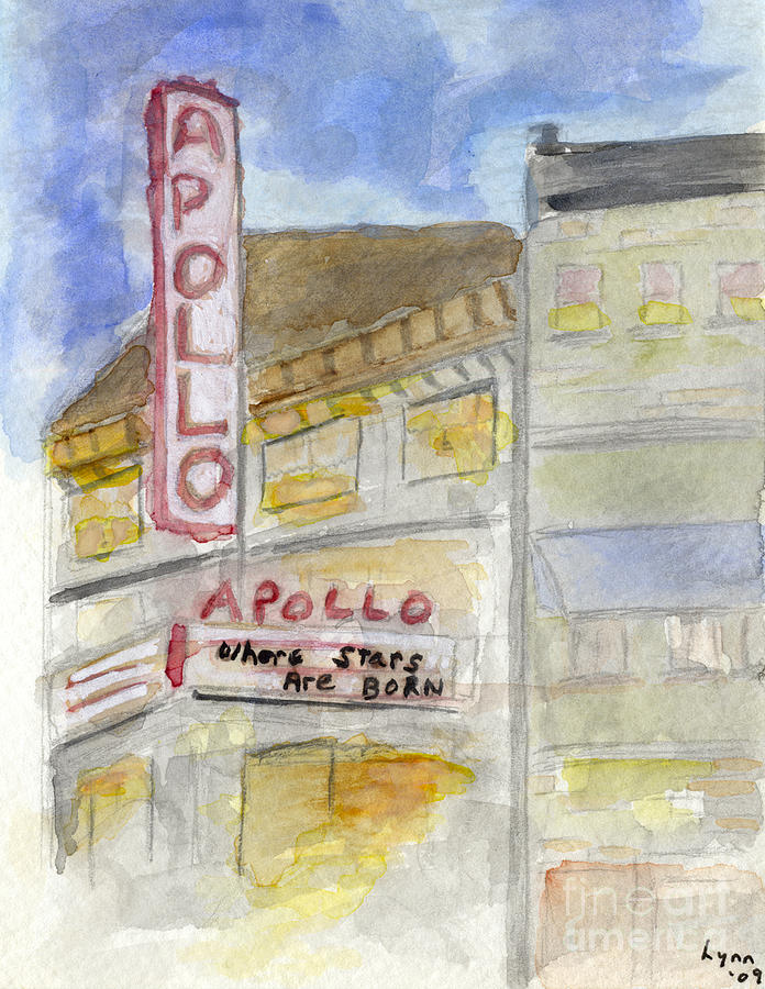 The Apollo Theatre Painting - The Apollo Theatre by AFineLyne